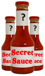 Bottle of secret sauce